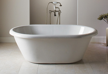 CLARKE Victoria Free Standing Acrylic Bath Tub in Biscuit- T4066OFS-16