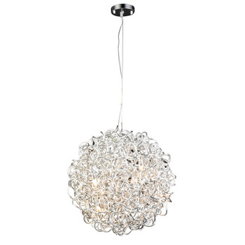 PLC 6 Light Pendant Fireball-II Collection 81757 AL In Aluminum
