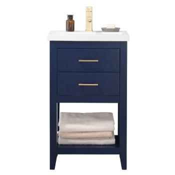 """Cara 20"""" Single Sink Vanity In Blue S02-20-BLU"""