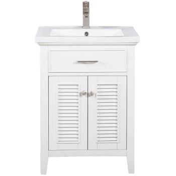 "Cameron 24"" Single Sink Vanity In White S09-24-WT"