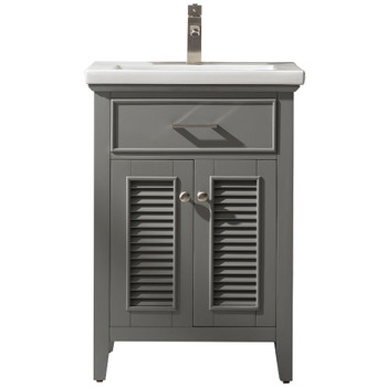 """Cameron 24"""" Single Sink Vanity In Gray S09-24-GY"""