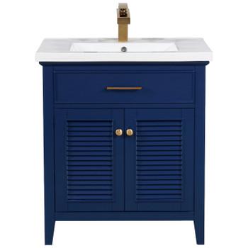 """Cameron 30"""" Single Sink Vanity in Blue S09-30-BLU"""