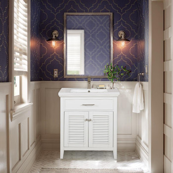 "Cameron 30"" Single Sink Vanity in White S09-30-WT"