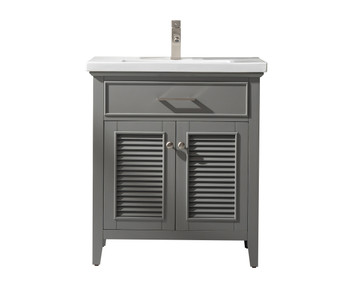 """Cameron 30"""" Single Sink Vanity In Gray S09-30-GY"""