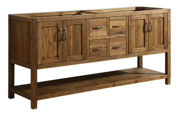 "Austin 72"" Vanity Base Cabinet Only in Walnut DEC4006-D-CB"
