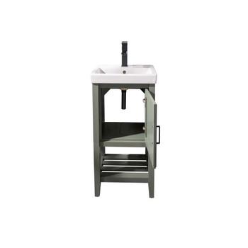 """Legion Furniture 18"""" Pewter Green Sink Vanity WLF9018-PG"""