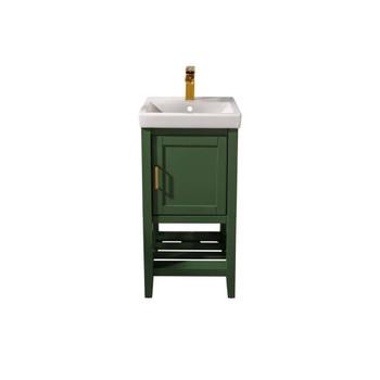 """Legion Furniture 18"""" Vogue Green Sink Vanity WLF9018-VG"""