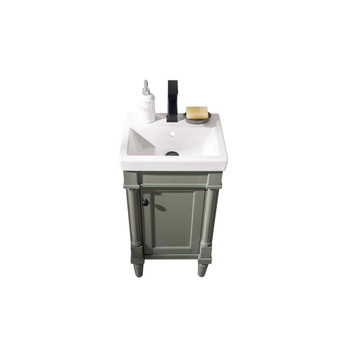 """Legion Furniture 18"""" Pewter Green Sink Vanity WLF9218-PG"""