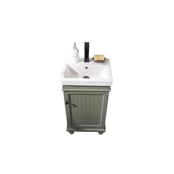 """Legion Furniture 18"""" Pewter Green Sink Vanity WLF9318-PG"""