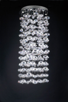 PLC 15 Light Chandelier Bubbles Collection 96995 PC - Polish Chrome Trim