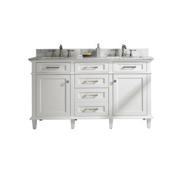 "Legion Furniture 60"" White Finish Double Sink Vanity Cabinet WLF2260D-W"
