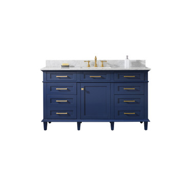 "Legion Furniture 60"" Blue Finish Single Sink Vanity Cabinet WLF2260S-B"