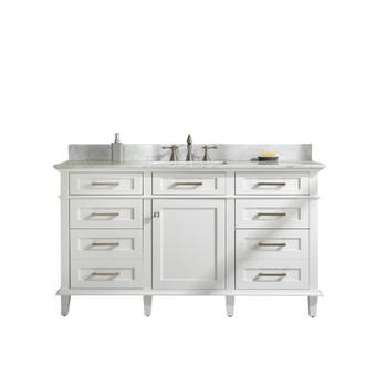 "Legion Furniture 60"" White Finish Single Sink Vanity Cabinet WLF2260S-W"