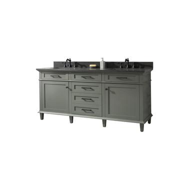 "Legion Furniture 72"" Pewter Green Double Single Sink Vanity WLF2272-PG"