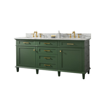 "Legion Furniture 72"" Vogue Green Double Single Sink Vanity WLF2272-VG"