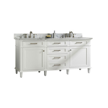 "Legion Furniture 72"" White Double Single Sink Vanity Cabinet WLF2272-W"