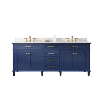"Legion Furniture 80"" Blue Double Sink Vanity Cabinet WLF2280-B"
