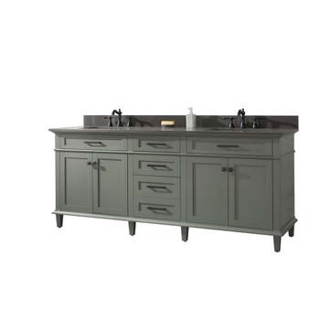 "Legion Furniture 80"" Pewter Green Double Single Sink Vanity-WLF2280-PG"
