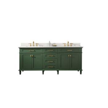 "Legion Furniture 80"" Vogue Green Double Single Sink Vanity-WLF2280-VG"