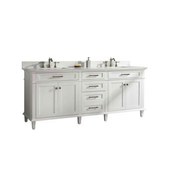 "Legion Furniture 80"" White Double Single Sink Vanity Cabinet WLF2280-W"