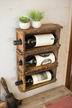 "HANGING  BRICK MOLD WINE RACK - 13""W x 17""H x 3.50""D"