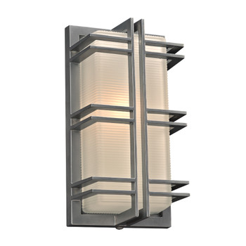 PLC 1 Light Outdoor Fixture Gulf Collection 8012SL113GU24 In Silver Finish