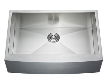 33″ Single Bowl 16 GAUGE Farmhouse/Apron Front Sink,AP3322C-33S