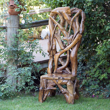 Habini Teak Driftwood King Chair