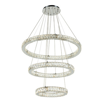 PLC1 Ceiling Treble Pendant from the Equis Collection In Polished Chrome Finish 90073PC
