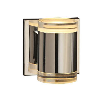 PLC 1 Small wall sconce from the Syros collection In Polished Chrome Finish - 90080PC