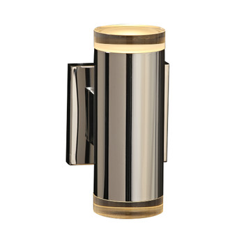 PLC 1 Large wall sconce from the Syros collection In Polished Chrome Finish - 90082PC