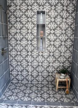"ALFI brand ABN0836 8"" x 36"" Vertical Triple Shelf Stainless Steel Bath / Shower Niche"