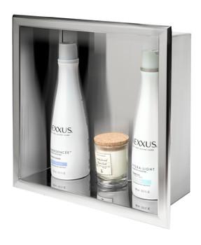 ALFI brand ABN1212-PSS 12 x 12 Polished Stainless Steel Square Single Shelf Bath Shower Niche