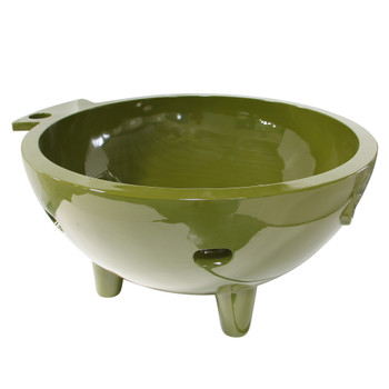 ALFI brand FireHotTub-OG The Round Fire Burning Portable Outdoor Hot Bath In Olive Green Tub