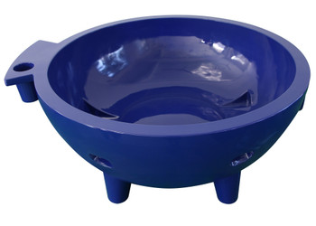 ALFI brand FireHotTub-DB The Round Fire Burning Portable Outdoor Hot Bath In Dark Blue