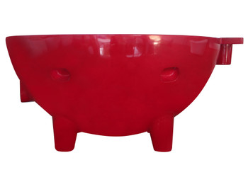 ALFI brand FireHotTub-RW The Round Fire Burning Portable Outdoor Hot Bath In Dark Red