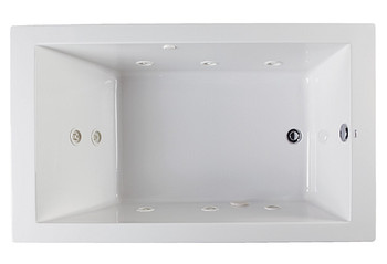 "CLARKE Sparta Drop-In Whirlpool Bath Tub 72""L W X 32""W In Biscuit-W3272SP-16(Picture shown in White)"