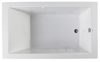 "CLARKE Sparta Drop-In Whirlpool Bath Tub 60""L W X 32""W In Biscuit-W3260SP-16(Picture shown in White)"