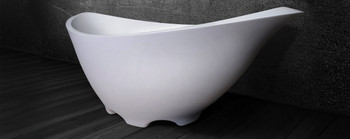 "Clarke CA7233FS-00 Lotus Satin White 72""x34""x27"" Freestanding Tub"