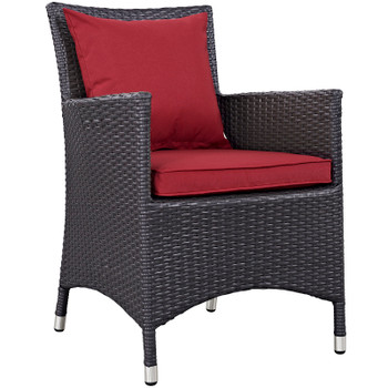 Modway Convene 11 Piece Outdoor Patio Dining Set in Espresso Red Model: EEI-2219-PER-RED-SET