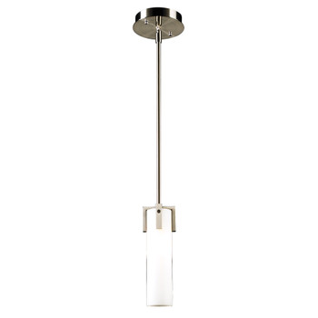 PLC Lighting PLC 1 Light Mini Pendant Polipo Collection 931SNLED In Satin Nickel