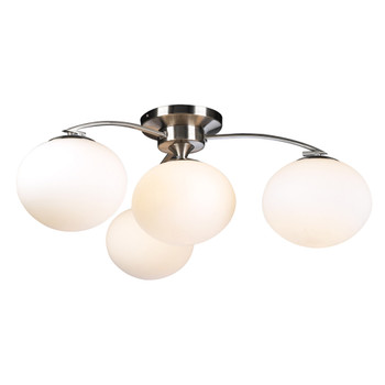 PLC 4 Light Ceiling Light Aosta Collection 7228 SN In Satin Nickel