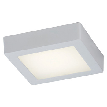 PLC 1 Single ceiling light from the Rubix collection 7412WH In White