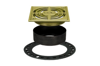 "Schluter KERDI-DRAIN - Grate Kit - 4"" In Brushed Brass - KD4 GRK AMGB (Flange Kit Sold Separately)"