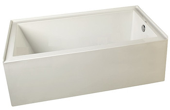 """CLARKE Sparta T3260PSKR-01 60"""" X 32"""" Acrylic Skirted Soaking Bath Tub- Right End Drain In White FREE Shipping & NO Tax"""