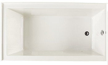 "CLARKE Sparta T3260PSKR-01 60"" X 32"" Acrylic Skirted Soaking Bath Tub- Right End Drain In White"