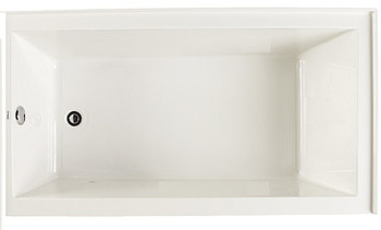 "CLARKE Sparta T3260PSKL-01 - 60"" X 32"" Acrylic Skirted Soaking Bath Tub- Left End Drain In White"