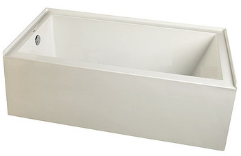 """CLARKE Sparta T3266PSKL-16 - 66"""" X 32"""" Acrylic Skirted Soaking Bath Tub- Left End Drain In Biscuit (Picture shown in White) FREE Shipping & NO Tax"""
