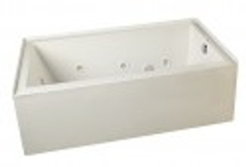 """CLARKE Sparta T3266PSKR-16 - 66"""" X 32"""" Acrylic Skirted Soaking Bath Tub- Right End Drain In Biscuit (Picture shown in White) FREE Shipping & NO Tax"""