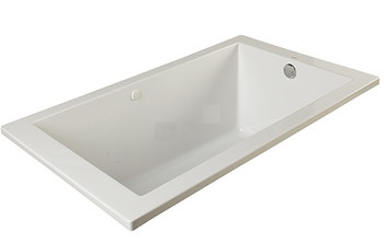 "CLARKE Sparta T3266PSKR-01 - 66"" X 32"" Acrylic Skirted Soaking Bath Tub- Right End Drain In White"